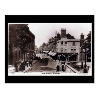 Old Postcard, High Street, Bedford, in 1918 Postcard
