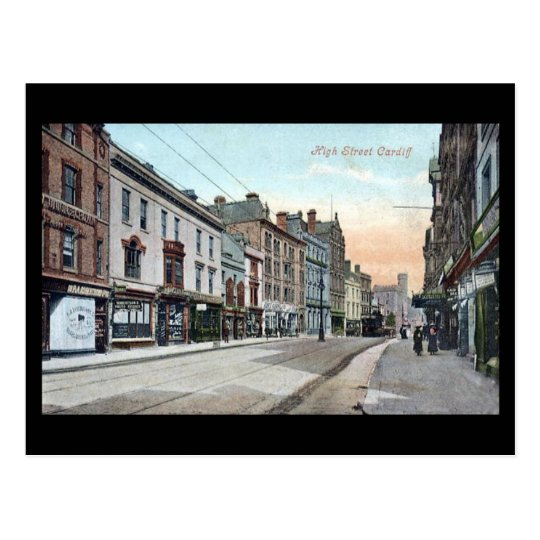 Old Postcard, High Street, Cardiff Postcard