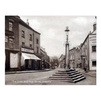 Old Postcard - High Street, Cheadle