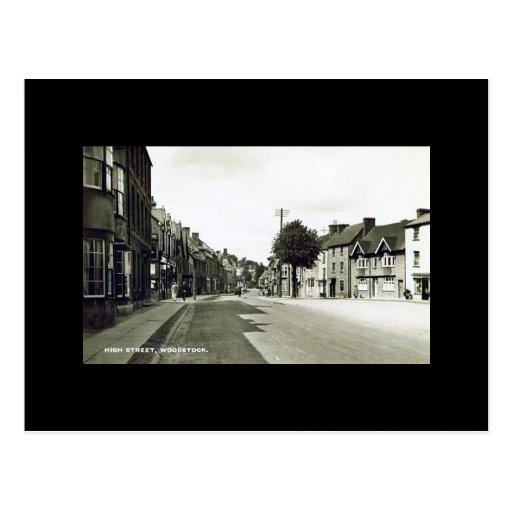 Old Postcard - High Street, Woodstock, Oxfordshire