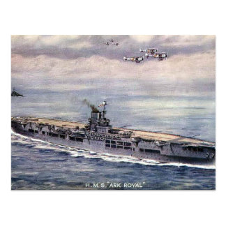 Old Postcard - HMS Ark Royal