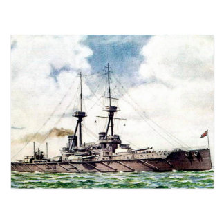 Old Postcard - HMS Vanguard