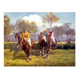 Old Postcard - Horse Racing