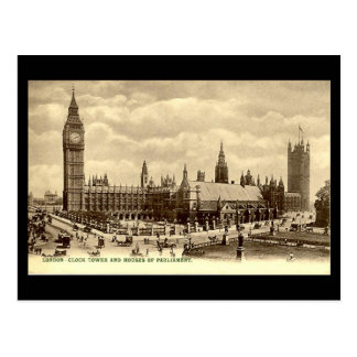 Old Postcard, Houses of Parliament, London