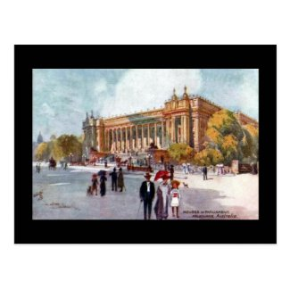 Old Postcard - Houses of Parliament, Melbourne
