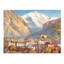 Old Postcard - Jungfrau, Interlaken, Switzerland