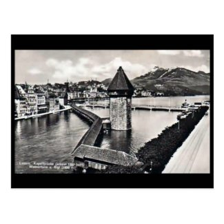 Old Postcard - Kapellbrucke, Lucerne, Switzerland