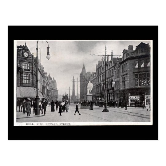 Old Postcard - King Edward St, Hull, Yorkshire