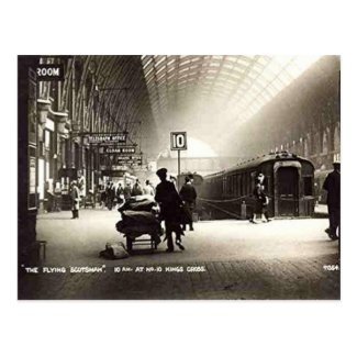 Old Postcard - King's Cross Station, London