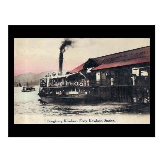 Old Postcard - Kowloon Ferry, Hong Kong