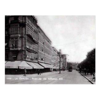 Old Postcard - La Coruna, Spain