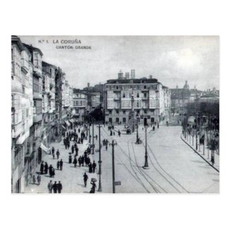 Old Postcard - La Coruna, Spain