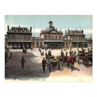 Old Postcard - La Gare, Dunkerque, Nord