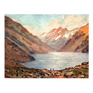Old Postcard - Lago del Inca, Chile
