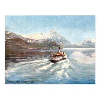 Old Postcard - Lake Thun, Interlaken, Switzerland