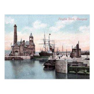 Old Postcard - Langton Dock, Liverpool