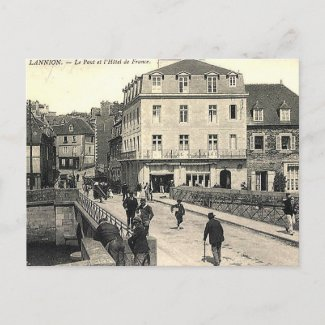Old Postcard - Le Pont, Lannion, France