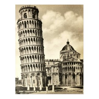 Old Postcard - Leaning Tower of Pisa