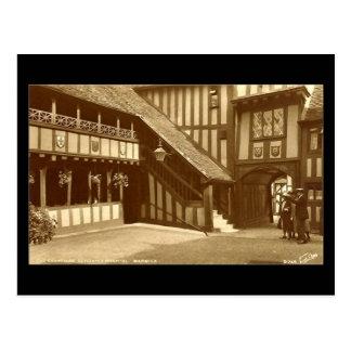 Old Postcard, Leycester Hospital, Warwick Postcard