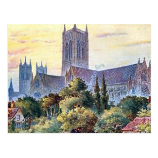 Old Postcard - Lincoln Cathedral