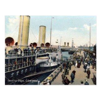 Old Postcard - Liverpool, Landing Stage