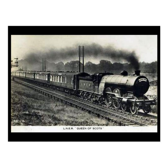 "Old Postcard - LNER Train ""Queen of Scots"""