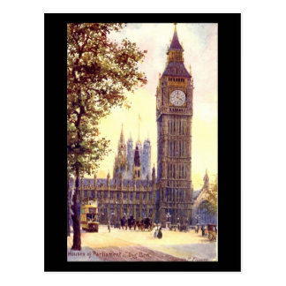 Old Postcard - London, Big Ben