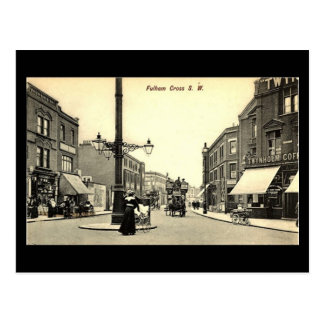 Old Postcard - London, Fulham Cross