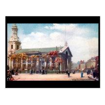Old Postcard - London, Greenwich Parish Church
