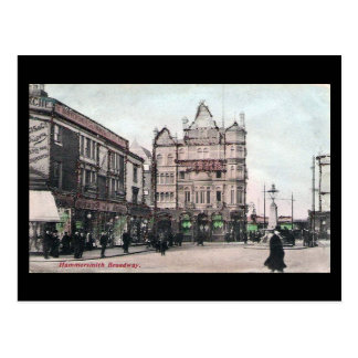 Old Postcard - London, Hammersmith Broadway in 190
