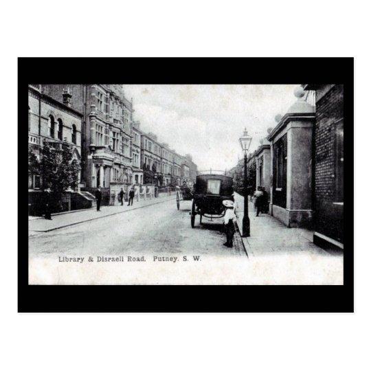 Old Postcard - London, Putney, Disraeli Road