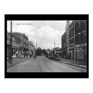 Old Postcard, London, Southall, High Street Postcard