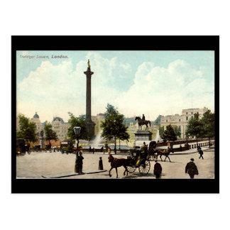 Old Postcard - London, Trafalgar Square
