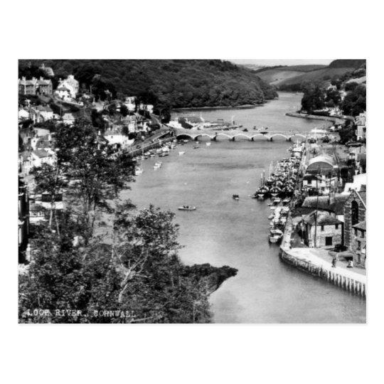 Old Postcard - Looe River, Cornwall, England