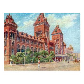 Old Postcard - Madras (Chennai), India