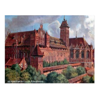 Old Postcard - Malbork/Marienburg, Poland