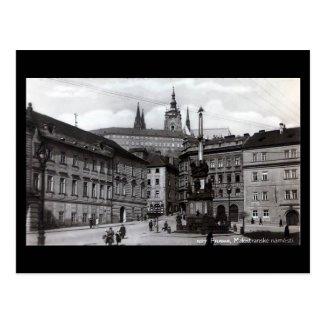 Old Postcard, Malostranske Square, Prague