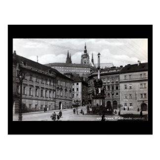 Old Postcard, Malostranske Square, Prague Postcard