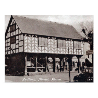 Old Postcard - Market House, Ledbury.