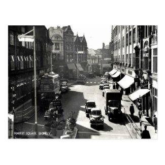 Old Postcard - Market Square, Bromley, London