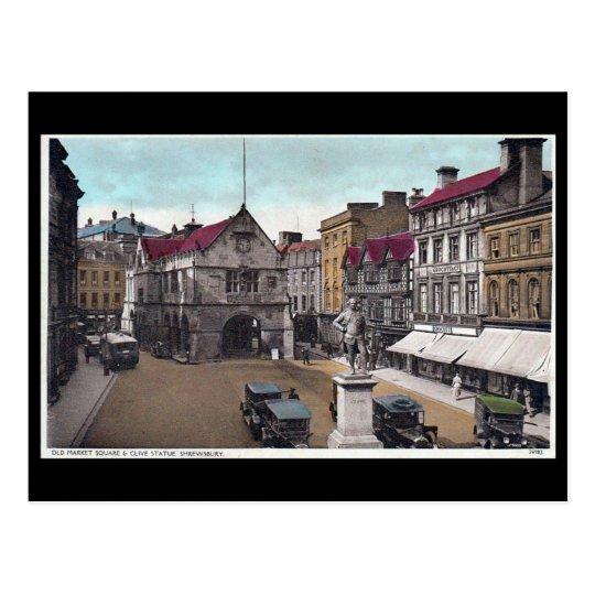 Old Postcard - Market Square, Shrewsbury