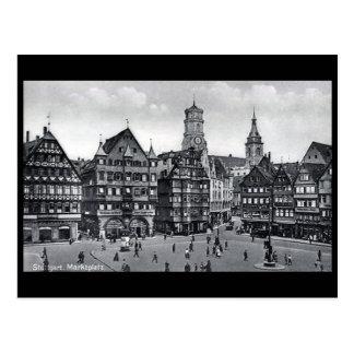 Old Postcard - Marktplatz, Stuttgart