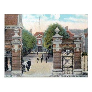 Old Postcard - Marlborough College, Wiltshire
