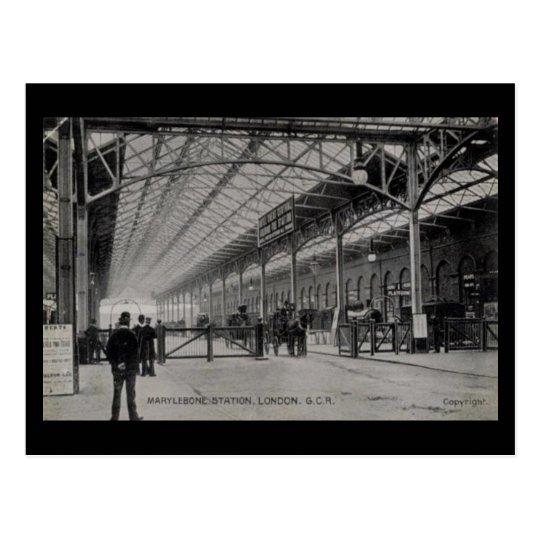 Old Postcard - Marylebone Station, London