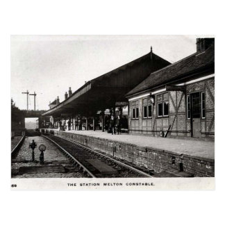 Old Postcard - Melton Constable Station, Norfolk