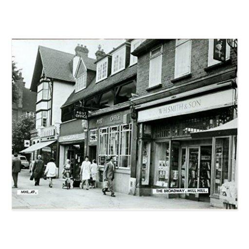 Old Postcard, Mill Hill Broadway
