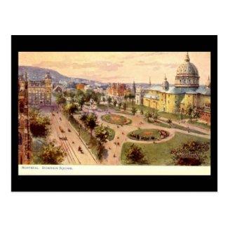 Old Postcard, Montreal, Dominion Square