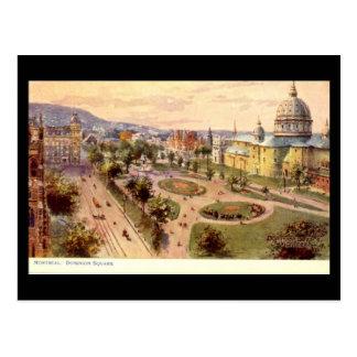 Old Postcard, Montreal, Dominion Square Postcard