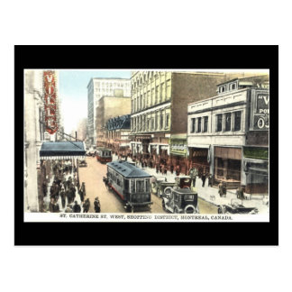 Old Postcard, Montreal, St Catherine Street Postcard