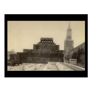 Old Postcard - Moscow, Red Square, Lenin's Tomb